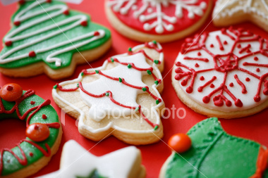 ist2_4698457-assorted-christmas-cookies-on-red